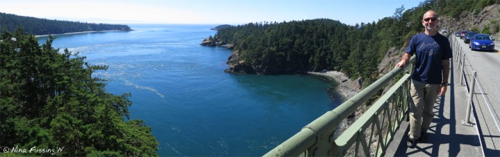 Panorama from the top of the bridge