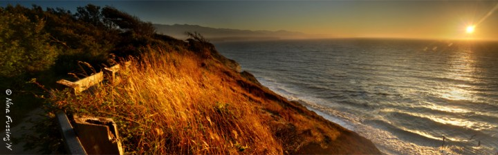 Sunset from the Dungeness Bluff