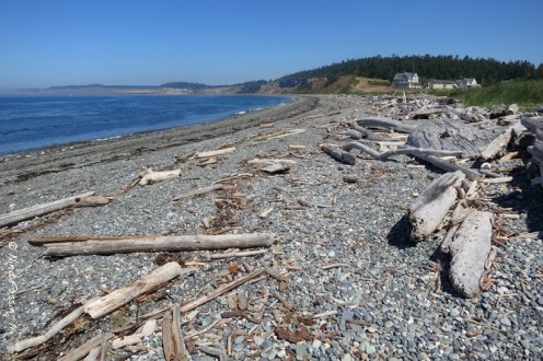 The beach just north of Fort Casey
