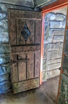 Inside door detail of the tower