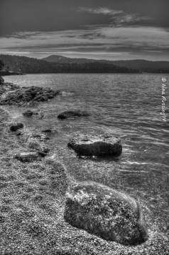 HDR of the rocky beach