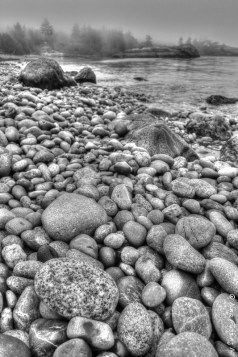 The rocky shores of Agate Beach