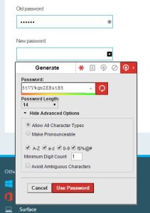 I really like the LastPass automatic password generator