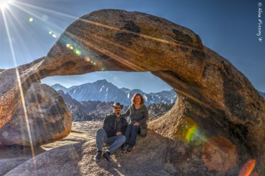 The famous Mobius Arch with our buddies Chris & Cherie