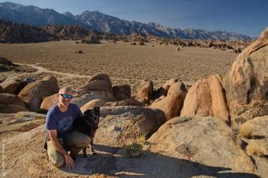Paul, doggie and a whole lotta rocks