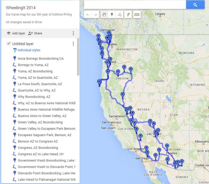 Our 2014 Travel Map -> Click and Enjoy!