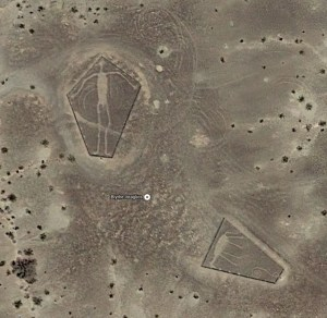 The Blythe Intaglio's as seen from Google Satellite