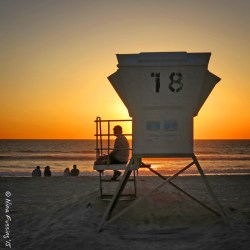 A sweet sunset on Pacific Beach