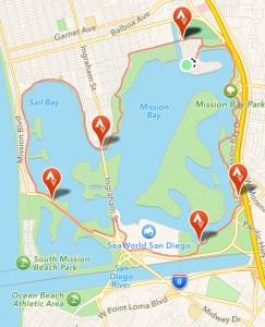 The Mission Bay bike loop