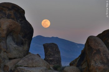 Moon-rise over the Alabama Hills