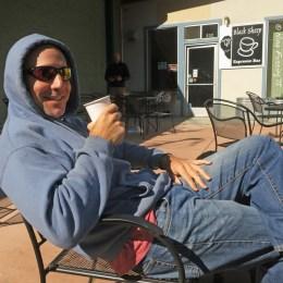 Ahhhhh...our daily coffee at Black Sheep