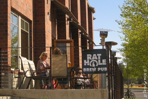 The dog-friendly patio at Rat Hole