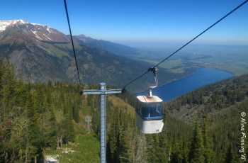 On the tram by Wallowa State Park