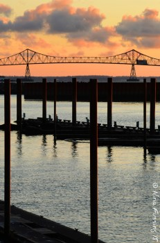 The Astoria Bridge at sunset