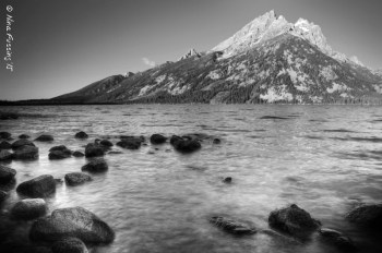 Jenny Lake again. This time in black and white.