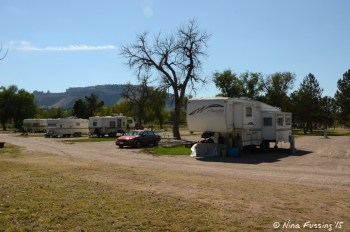 """View of very back row. Also """"shared"""" sites here. RV in site #33/34."""