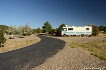 Another view down 2nd loop. RV in site #41 on right.