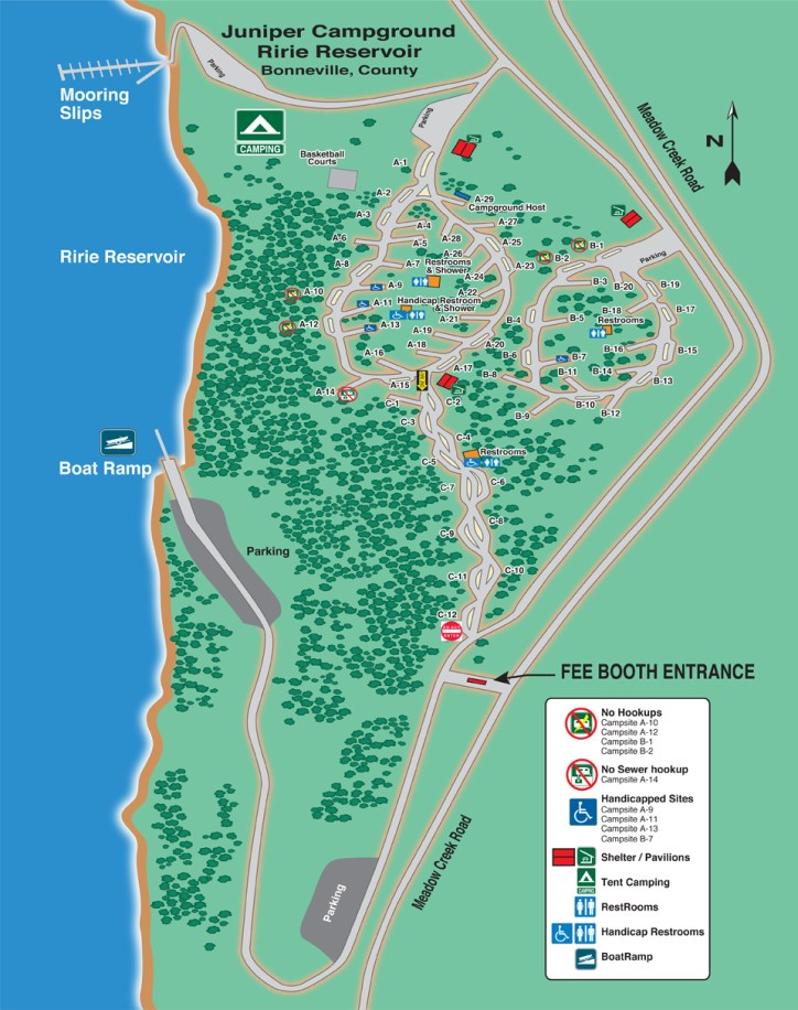 Campground map (from County website).