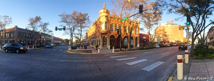 iPhone pano of lovely downtown Rapid City, SD