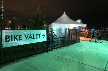 Getting in to the bike valet for pre-dawn glow