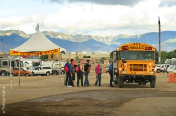 The shuttle buses are free and run regularly during events
