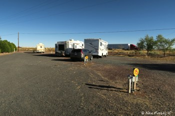 Sites 11-15 (left to right). You can see how close I-40 is by the passing 18-wheeler in the background.