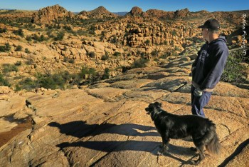 Hiking the Granite Dells right from the RV park