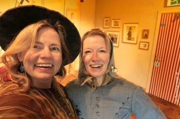My sis and I share the same quirky humor. Here we have a laugh in period costume on the SS Great Britain