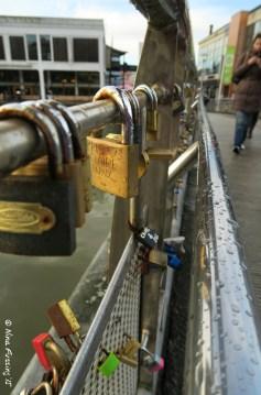 Love locks on Bristol's Pero's Bridge