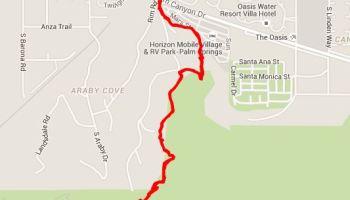Desert Hot Springs California Map.The Hidden Trail To Flag Mountain Desert Hot Springs Ca Wheeling It