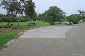 View of disabled access site near entrance of campground. This is site #3