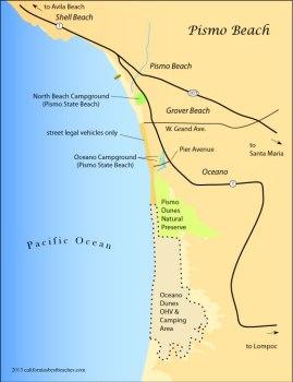 Pismo Beach Area Map