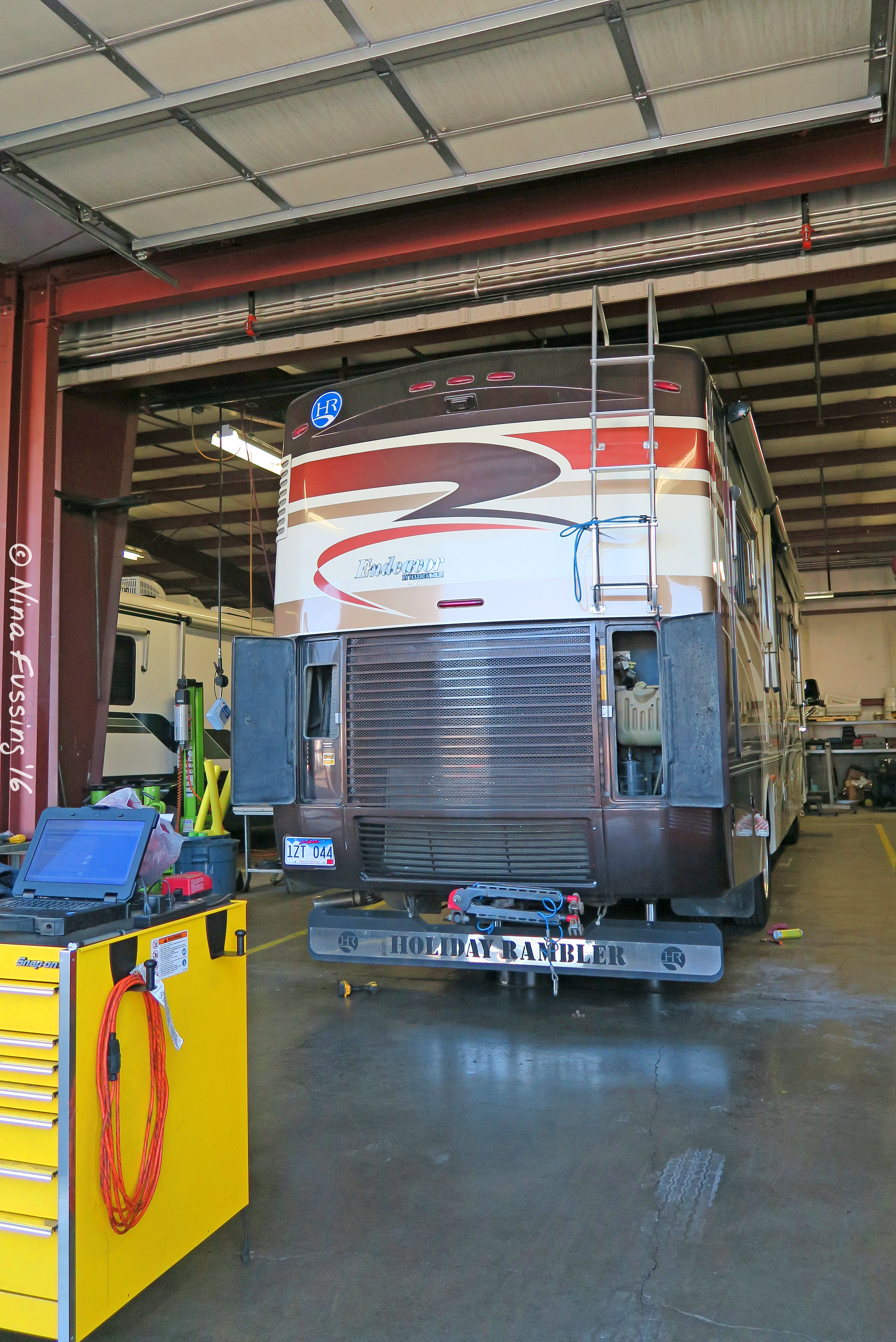 In the shop. It's a part of RV life.