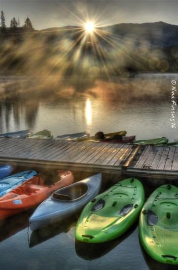Morning mist on Redfish Lake