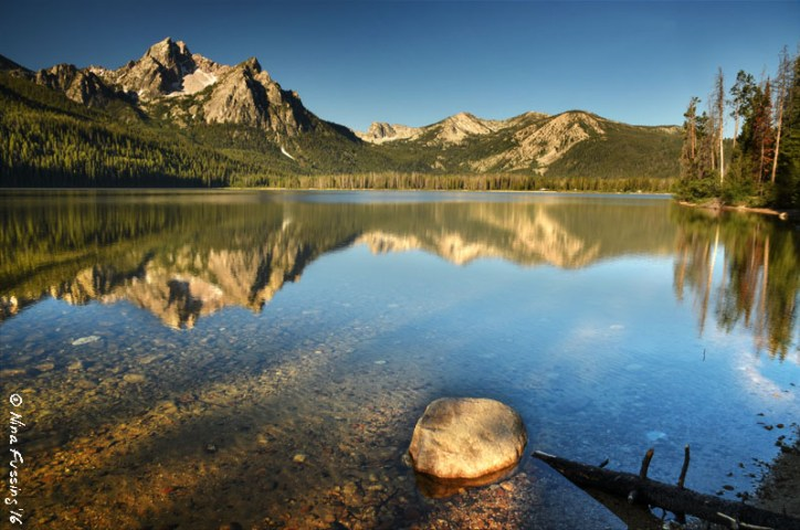 Crystal clear reflections at Stanley Lake