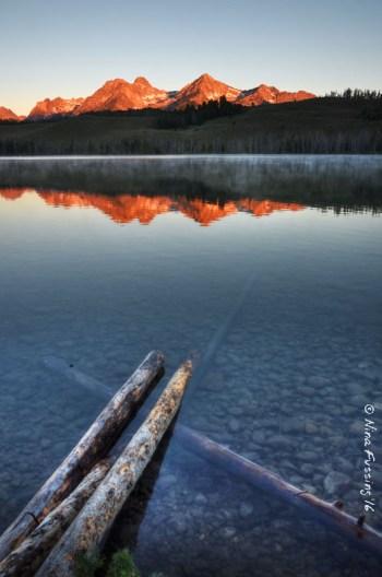 Little Redfish Lake reflections
