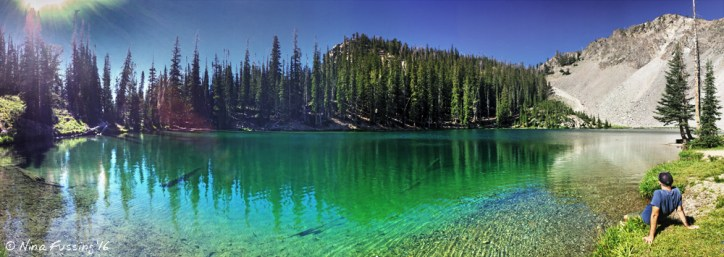 Panorama from Norton Lake -> Polly would've loved this hike!