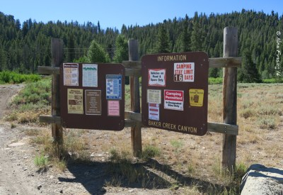 """Camping rules at Baker Creek which has """"designated dispersed"""" sites"""
