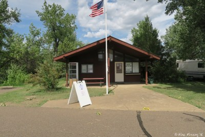 View of ranger station at entrance