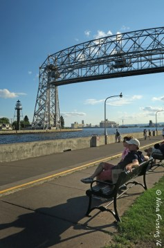 Inner Breakwater Light and the Aerial Lift Bridge