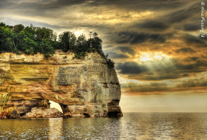 "My ""winning"" shot of Pictured Rocks. They sure are pretty."