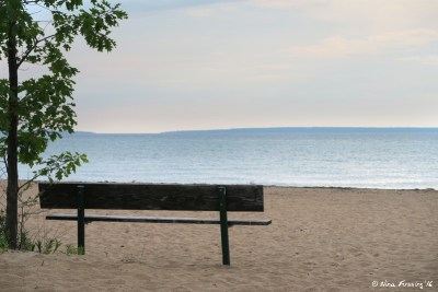 View of swim beach