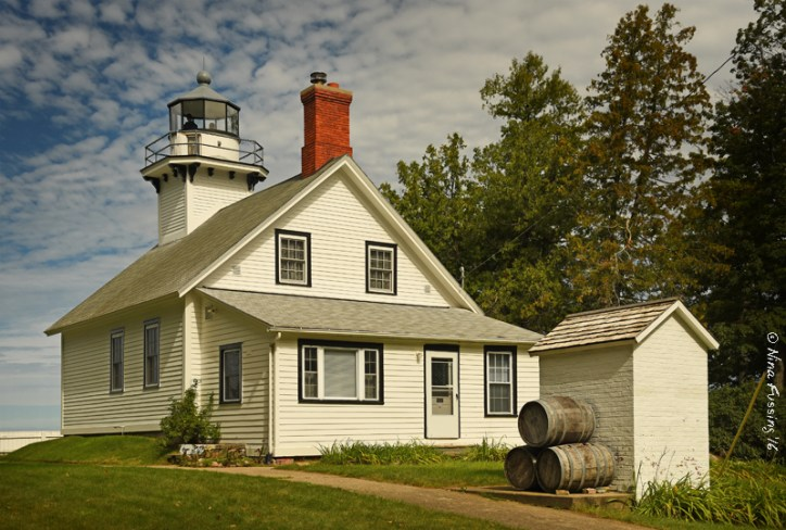 Gorgeous Mission Point Lighthouse. Our last light in Michigan :(