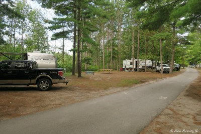 Edge sites near back of campground on Southern site. Empty side 31 with 29 behind it. These are also nice and quiet.