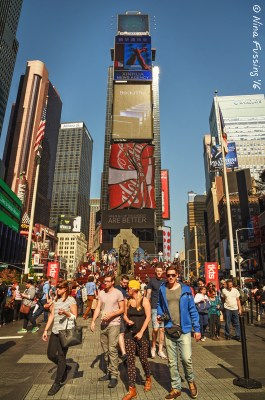 Lots of people at Times Square!