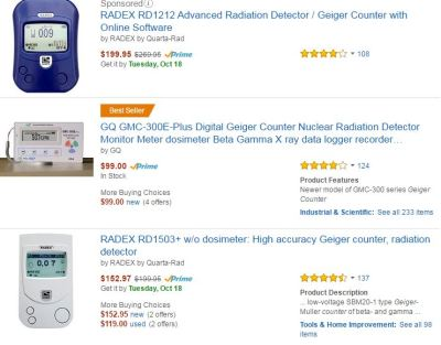 OF COURSE you can buy Geiger Counters on Amazon!