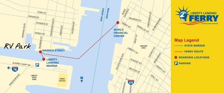 This was our favorite ferry route. The Warren Street landing is just 10 mins walk from the RV Park.