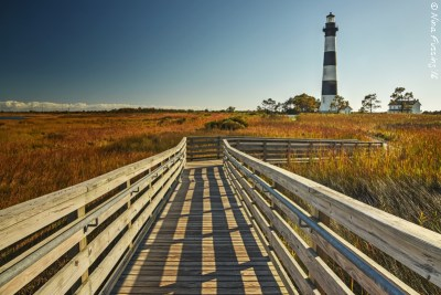 Bodie Island Light and grounds