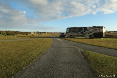 View of our site B27 from other side. There was no-one else in our side of the loop the first few days we were there.