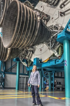 Moi by the Saturn V Rocket